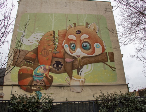 Antonio Segura Donat (Dulk) Street Art, Torpignattara, Roma